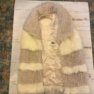 Fabulous furs ivory  Sherpa faux vest sample XS